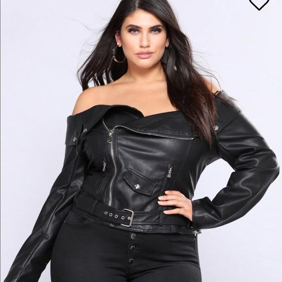 edee78f88af8fc Fashion Nova off shoulder jacket top